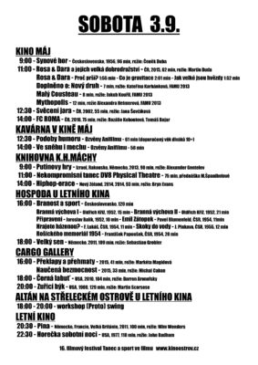 PROGRAM FIFELI- sobota